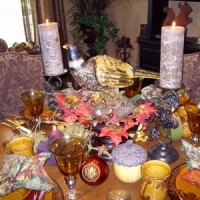Lynne's Fall Tablescape Pheasant8