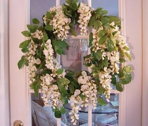 Spring Summer Wisteria Wreath