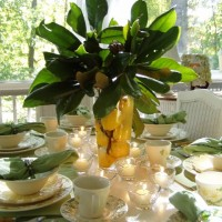 A Magnolia & Lemon Centerpiece