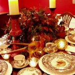 A Thanksgiving Table Setting with Spode Woodland