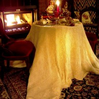 Fireside Dining in the Library with Spode Woodland