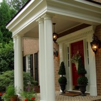 Front Porch Addition Modeled After Gainesway Farm 01