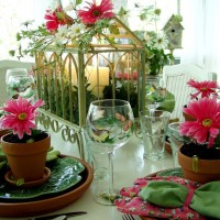 A Garden Party Table Setting