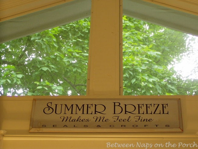 Summer Breeze Makes Me Feel Fine Sign