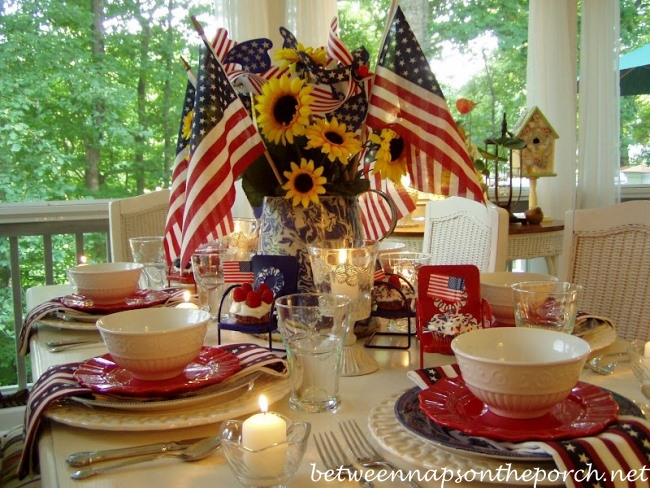 4th of July Party Table Setting Ideas