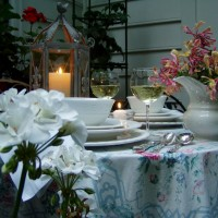 A Garden Table Setting