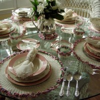 Table Setting with Crocheted Linens
