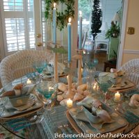 Beach Themed Tablescape