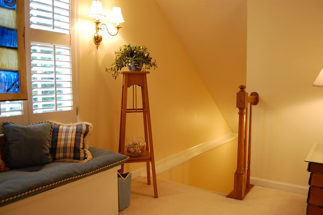 Back Staircase, Great for Built in Shelves