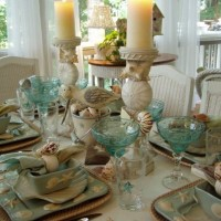 Beach Tablescape on the Porch