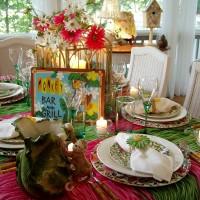 Hawaiian or Tropical Table Setting