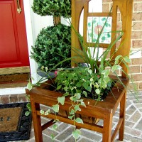 Creating a Planter from a Chair