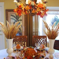 Beautiful Wheat Centerpiece with Pumpkin Tureens