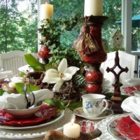A Birding and Nature Themed Table Setting