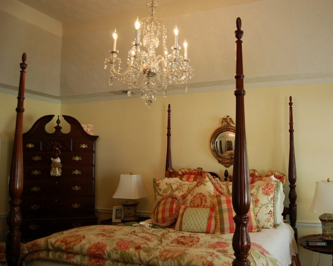 A Crystal Chandelier For The Master Bedroom