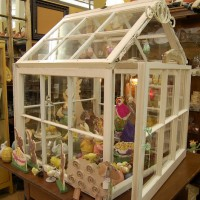 Make a Greenhouse from Old Windows for Holiday Displays