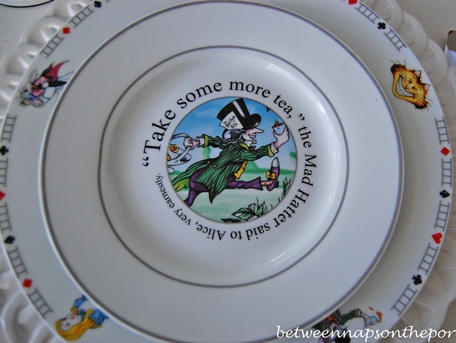 Alice in Wonderland Mad Hatter Salad Plate
