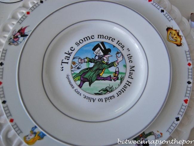 Alice in Wonderland Mad Hatter Salad Plate