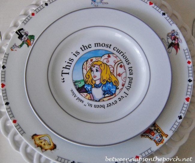 Alice in Wonderland Salad Plate Featuring Alice