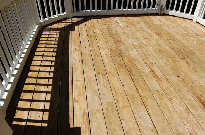 Cleaning Deck with Olympic Deck Cleaner