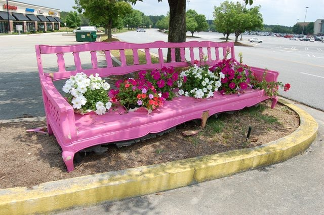 Pink Garden Furniture A whimsical idea for a garden bench visit how sweet the sound for more pink saturday fun workwithnaturefo