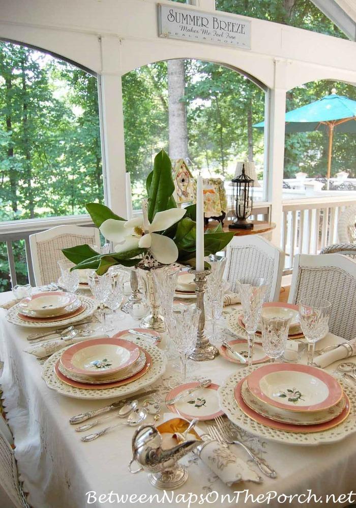 Bridal Shower Table Setting & Tablescape Thursday: Celebrating 100 Table Settings