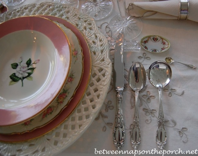 Elegant Place Setting with Towle King Richard Sterling Flatware