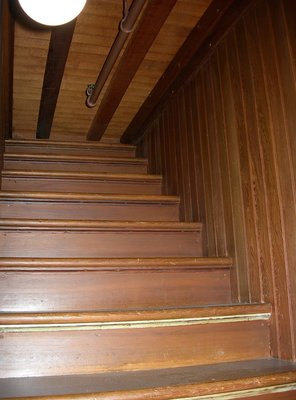 Stairs that go nowhere in the Winchester Mystery House, California