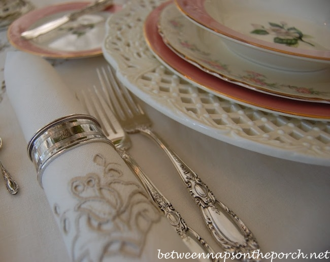 Towle King Richard Sterling Silver Flatware in a Spring Table Setting