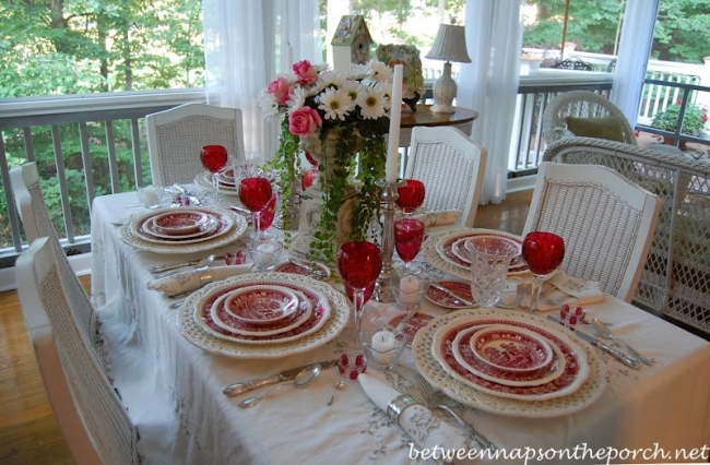 Just one tablescape from betweennapsontheporch. beautiful!