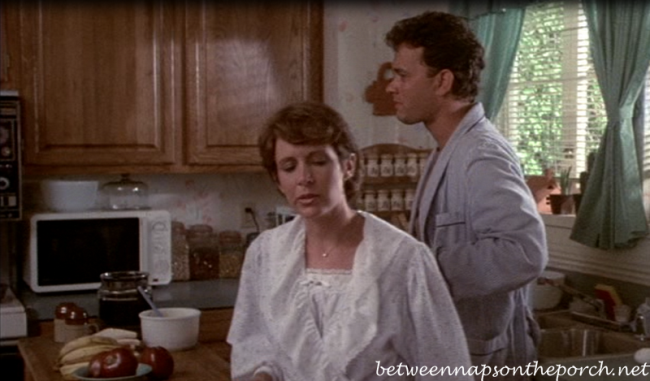 Carrie Fisher and Tom Hanks in the Movie, The Burbs