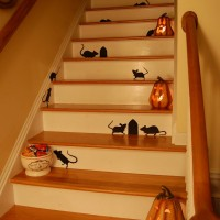 Decorate Step with Martha Stewart Rats for Halloween