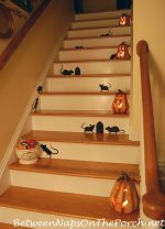 Decorating for Halloween, Mice on a Staircase