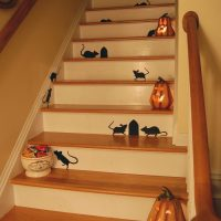 Halloween Rats on Staircase