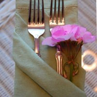 Napkin Folding Tutorial: Triple Pocket Fold