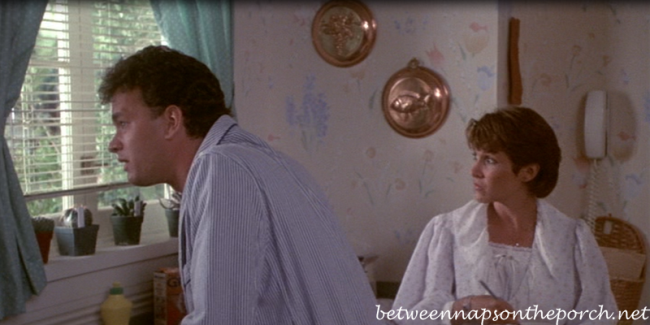 Tom Hanks and Carrie Fisher in the Movie, The Burbs