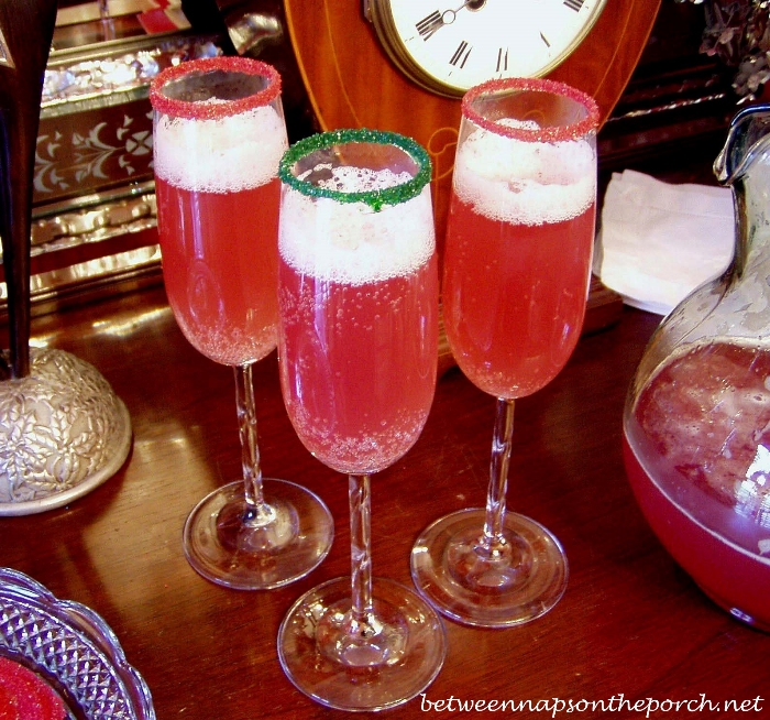 Champagne Punch For Christmas Or New Year's Eve Or New