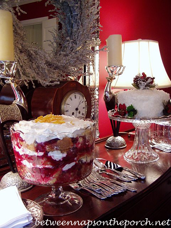 Cranberry Trifle for a Holiday Christmas Party