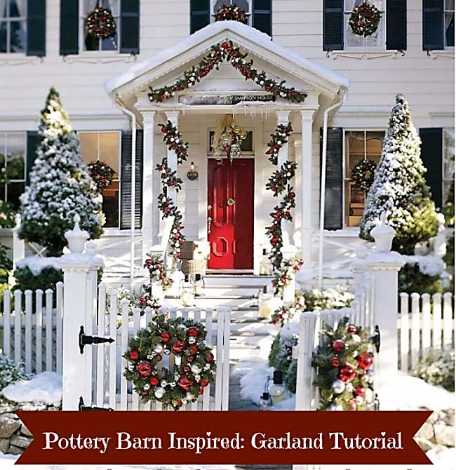Make this pottery barn inspired christmas garland a for Christmas decorations near me