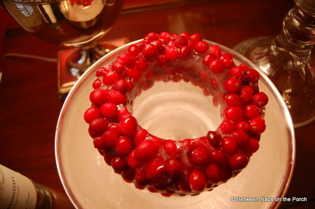 Make a Wine Ice Chiller with Cranberries 2