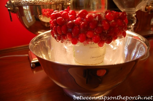 Make a Wine Ice Chiller with Cranberries 8_wm