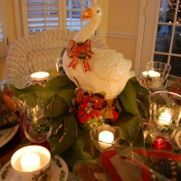 Twelve Days of Christmas Table Setting