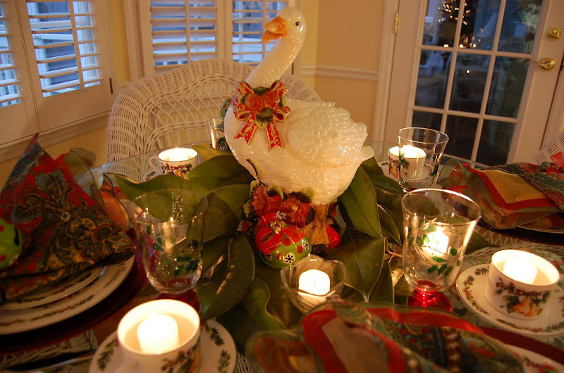 Christmas Tablescape Table Setting With A 12 Days Of
