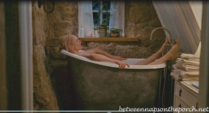 Bathroom in Rosehill Cottage in  the movie, The Holiday_wm_wm
