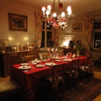 A Christmas Tablescape and a Candlelit Tree