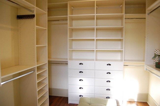 Closet in Southern Living Idea House in Senoia Georgia