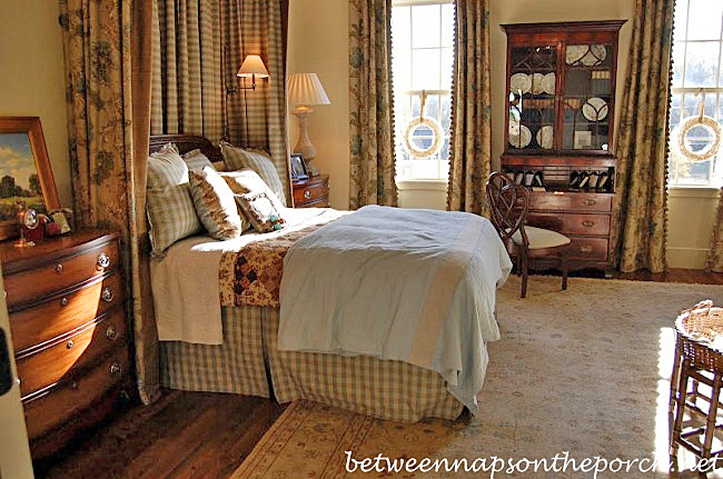 Bedroom in Southern Living Idea House in Senoia Georgia