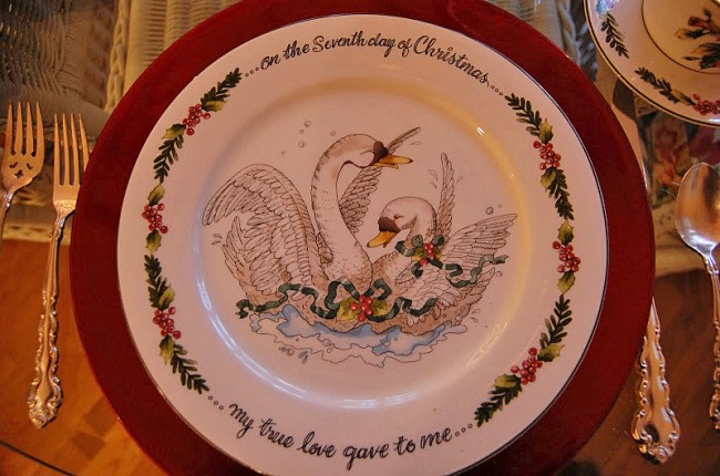 Valarie Parr Hill's 12 Days of Christmas Dishware