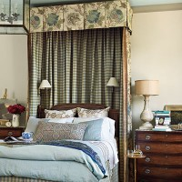 Bed in Southern Living Idea House in Senoia Georgia