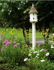 Lazy Hill Dovecote in Perennial Garden